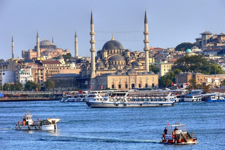 Istanbul (Constantinople) — Turkey's largest city, the former capital of both the Ottoman and Byzantine Empires, and the only major city in the world to straddle two continents