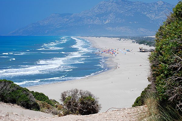 Ancient city and beach of Patara in Turkey